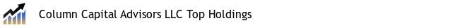 Column Capital Advisors LLC Top Holdings