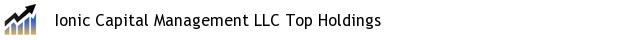 Ionic Capital Management LLC Top Holdings