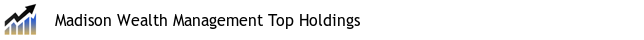 Madison Wealth Management Top Holdings