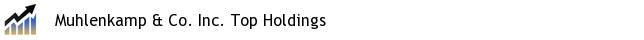 Muhlenkamp & Co. Inc. Top Holdings