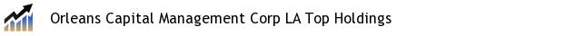 Orleans Capital Management Corp LA Top Holdings
