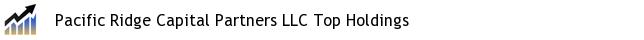 Pacific Ridge Capital Partners LLC Top Holdings