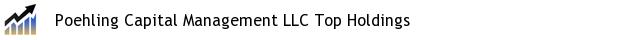 Poehling Capital Management LLC Top Holdings