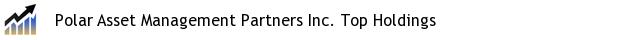 Polar Asset Management Partners Inc. Top Holdings