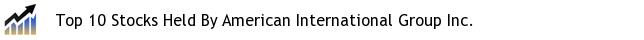 Top 10 Stocks Held By American International Group Inc.