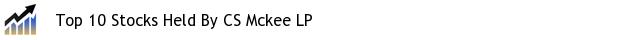 Top 10 Stocks Held By CS Mckee LP