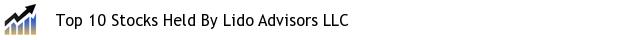 Top 10 Stocks Held By Lido Advisors LLC