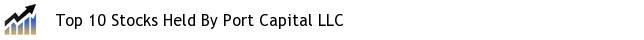 Top 10 Stocks Held By Port Capital LLC